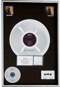 Music Memorabilia:Awards, Bonnie Raitt Nick of Time RIAA Multi-Platinum Album SalesAward (Capitol C1-91268, 1989)....