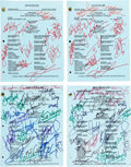 """Movie/TV Memorabilia:Autographs and Signed Items, A Group of Cast Signed Scripts and a Signed Prop Newspaper from""""Days of Our Lives.""""... (Total: 4 )"""