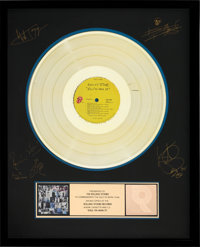 Rolling Stones Exile on Main Street RIAA Hologram Gold Sales Award Presented to the Artist (