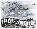 Movie/TV Memorabilia:Autographs and Signed Items, A Marlene Dietrich, George Burns and Others Autographed 'HollywoodSign' Photograph, Circa 1991....