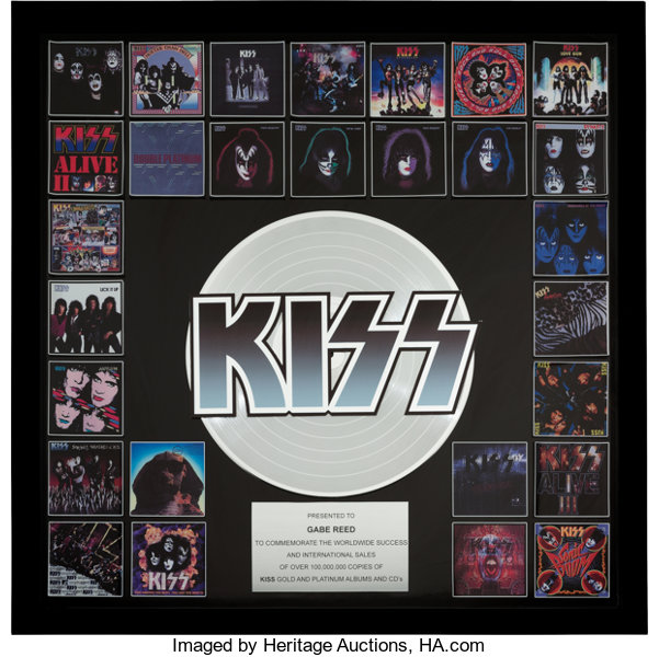 KISS In-House Award for 100 Million Sales of Their Entire