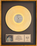 Music Memorabilia:Awards, Elvis Presley Today RIAA Gold Record Sales Award (RCAAFL1-1039, 1975)....
