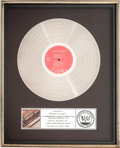 Music Memorabilia:Awards, The Beatles 1962-1966 RIAA Platinum Album Sales Award(Capitol SKBO-3403, 1976)....