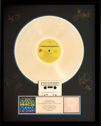 Rolling Stones Some Girls RIAA Hologram Gold Sales Award Presented to the Artist (Rolling St