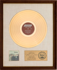 Rolling Stones Between the Buttons RIAA White Matte Gold Sales Award (London LL 3499, 1967)