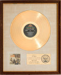 Music Memorabilia:Awards, The Best of the Animals RIAA White Matte Gold Sales Award Presented to the Artist (MGM SE-4324, 1966)....