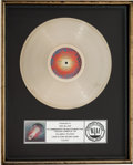 Music Memorabilia:Awards, Journey Escape RIAA Platinum Album Sales Award (Columbia TC37408, 1981)....