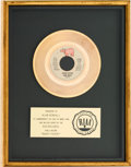 "Music Memorabilia:Awards, Bee Gees ""Night Fever"" RIAA Gold Record Sales Award Presented toAlan Kendall (RSO RS 889, 1978)...."