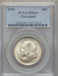 1936 50C Cleveland MS64+ PCGS. PCGS Population: (3032/3136 and 34/58+). NGC Census: (1778/2603 and 2/18+). CDN: $105 Whs...