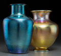 Art Glass, Two Steuben-Style Iridescent Glass Vases. Circa 1910. Ht. 11-5/8in. (taller). ... (Total: 2 Items)