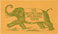 Rolling Stones Rock and Roll Circus Invitation Card (1968)