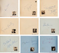 Movie/TV Memorabilia:Autographs and Signed Items, A Gary Cooper, Henry Fonda, Gregory Peck, Rita Hayworth and ManyOthers Signed Group of Autograph Books, Circa 1940s.... (Total: 3Items)