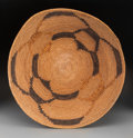 American Indian Art:Baskets, A Mission Polychrome Coiled Bowl...