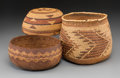 American Indian Art:Baskets, Three Northern California Twined Basketry Items... (Total: 3 Items)