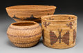 American Indian Art:Baskets, Three Southwest Coiled Baskets... (Total: 3 Items)