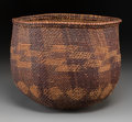 American Indian Art:Baskets, A Yokuts Twined Basket...
