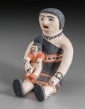 American Indian Art:Pottery, A Cochiti Polychrome Storyteller. Seferina Ortiz...