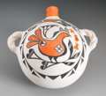 American Indian Art:Pottery, An Acoma Polychrome Canteen...