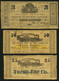 Obsoletes By State:Louisiana, Point Coupee, LA- Police Jury of the Parish of Pointe Coupee 25¢; 50¢; $3 Mar. 24, 1862(2); ND(1). ... (Total: 3 notes)