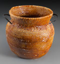 American Indian Art:Baskets, An Apache Tus with Pine Pitch...