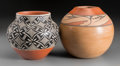 American Indian Art:Pottery, Two Jemez Polychrome Jars. Laura Gachupin and Dorela Tosa. ...(Total: 2 Items)