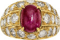 Estate Jewelry:Rings, Ruby, Diamond, Gold Ring The ring features an ...