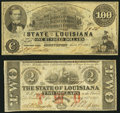 Obsoletes By State:Louisiana, Baton Rouge, LA- State of Louisiana $2 Feb. 24, 1862 Cr. 2;. Shreveport, LA- State of Louisiana $100 Mar. 10, 1863 Cr. 1... (Total: 2 notes)