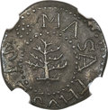 Colonials, 1652 3PENCE Pine Tree Threepence, No Pellets at Trunk, MS62 NGC. Noe-36, W-640, Salmon 2-B, R.4....