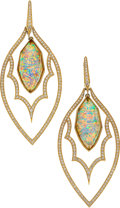 Estate Jewelry:Earrings, Quartz, Opal, Diamond, Gold Earrings, Stephen Webster. ...
