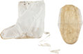 "Explorers:Space Exploration, NASA Vintage Pair of White Nylon ""Booties,"" Possibly for White orClean Room Use. ..."