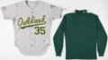 Baseball Collectibles:Uniforms, 1980's Oakland A's Bob Welch Game Worn Cap, Cleats & Other Memorabilia. ...