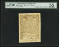 Colonial Notes:Rhode Island, Rhode Island May 1786 9d PMG About Uncirculated 55.. ...