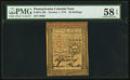Colonial Notes:Pennsylvania, Pennsylvania October 1, 1773 20s PMG Choice About Unc 58 EPQ.. ...