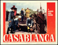 "Movie Posters:Academy Award Winners, Casablanca (Warner Brothers, 1942). Lobby Cards (2) (11"" X 14"")..... (Total: 2 Items)"