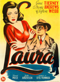 "Movie Posters:Film Noir, Laura (20th Century Fox, 1948). First Post-War Release DanishPoster (24.5"" X 33.5"") Willy Artwork.. ..."