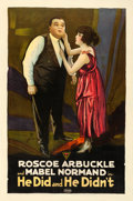 "Movie Posters:Comedy, He Did and He Didn't (Triangle, 1916). One Sheet (27"" X 41"").. ..."