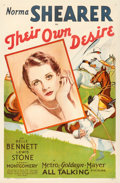 "Movie Posters:Romance, Their Own Desire (MGM, 1929). One Sheet (27"" X 41"").. ..."