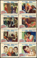 "Movie Posters:Film Noir, Double Indemnity (Paramount, 1944). Lobby Card Set of 8 (11"" X14"").. ... (Total: 8 Items)"