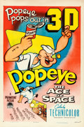"Movie Posters:Animation, Popeye in ""The Ace of Space"" (Paramount, 1953). One Sheet (27"" X41"") 3-D Style.. ..."