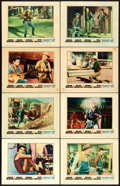 "Movie Posters:Western, Rio Bravo (Warner Brothers, 1959). Lobby Card Set of 8 (11"" X14"").. ... (Total: 8 Items)"