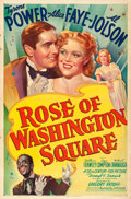 "Movie Posters:Musical, Rose of Washington Square (20th Century Fox, 1939). One Sheet (27""X 41"") Style B, Frederic C. Madan Artwork.. ..."