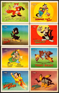 "Movie Posters:Animation, Terry-Toons Stock Lobby Cards (20th Century Fox, 1946). Lobby CardSet of 8 (11"" X 14"").. ... (Total: 8 Items)"
