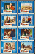 "Movie Posters:Western, Shane (Paramount, 1953). Lobby Card Set of 8 (11"" X 14"").. ... (Total: 8 Items)"
