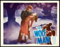 "Movie Posters:Horror, The Wolf Man (Realart/Film Classics, R-1948). Lobby Card (11"" X14"").. ..."