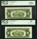 Error Notes:Miscellaneous Errors, Misaligned Back Printing Errors Fr. 1505 $2 1928D Legal TenderNote. PCGS Very Fine 25PPQ and Fr. 1506 $2 1928E Legal Tender N...(Total: 2 notes)
