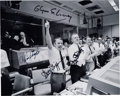 Autographs:Celebrities, NASA Mission Control Apollo 13 Photo Signed by Gene Kranz, ChrisKraft, Gerry Griffin, and Glynn Lunney. ...