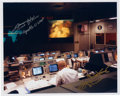Autographs:Celebrities, Apollo 13 Mission Control Photo Signed by Fred Haise and Gene Kranz. ...