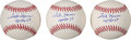 Autographs:Celebrities, Fred Haise Signed Baseballs (Three).... (Total: 3 Items)