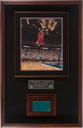 Basketball Collectibles:Others, 1998 NBA Finals Floor Michael Jordan Signed Large UDA Display. ...