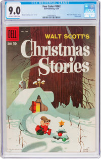 Four Color #1062 Walt Scott's Christmas Stories (Dell, 1959) CGC VF/NM 9.0 Off-white to white pages
